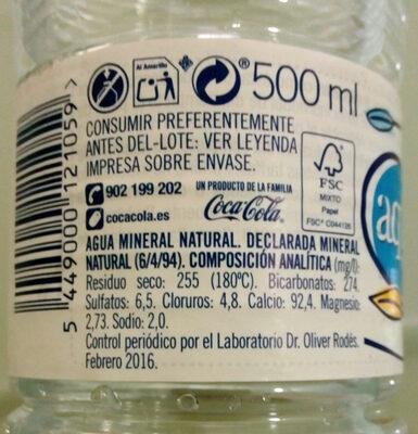 Aquabona - Información nutricional - es