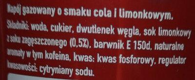 Napój gazowany o smaku cola i limonkowym. - Ingredients