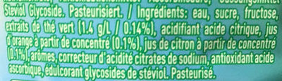 Green Tea Citrus - Ingredients