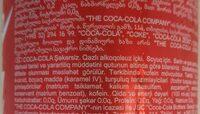 Coca Cola Zero - Ingredientes