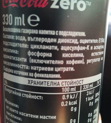 Coca-Cola Zero - Ингредиенты - ru