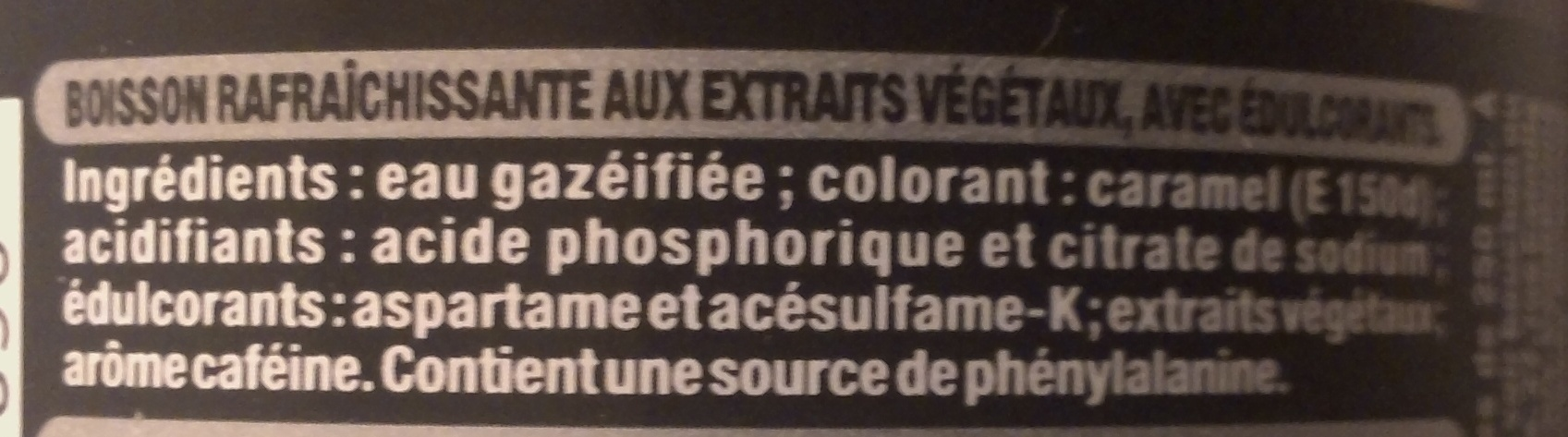 zero - Ingredientes