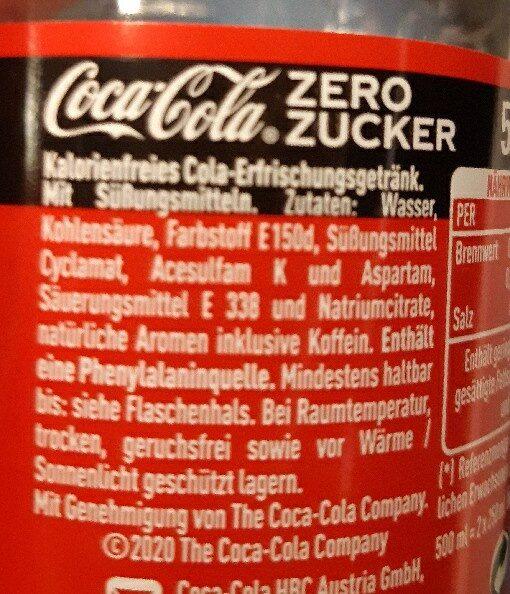 Coca-cola zéro - Zutaten - de