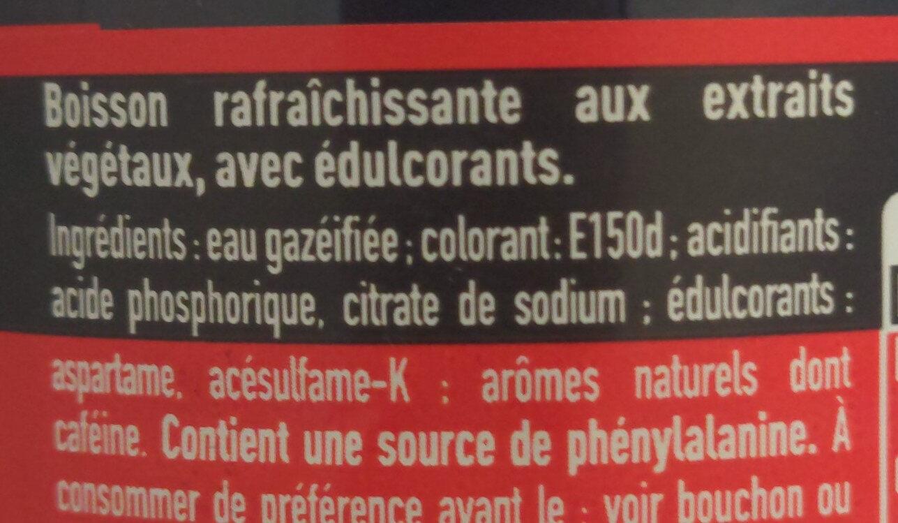 Coca-Cola Zero Sugar - Ingrédients - fr