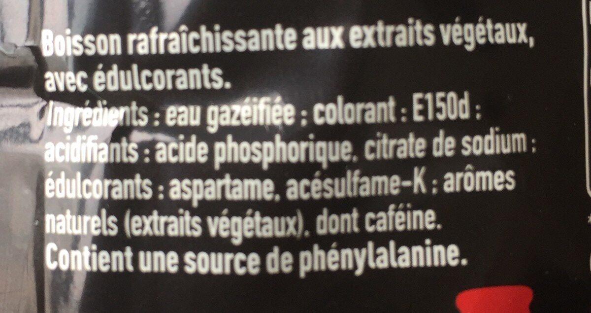 Coca-Cola Zero - Ingrédients - fr