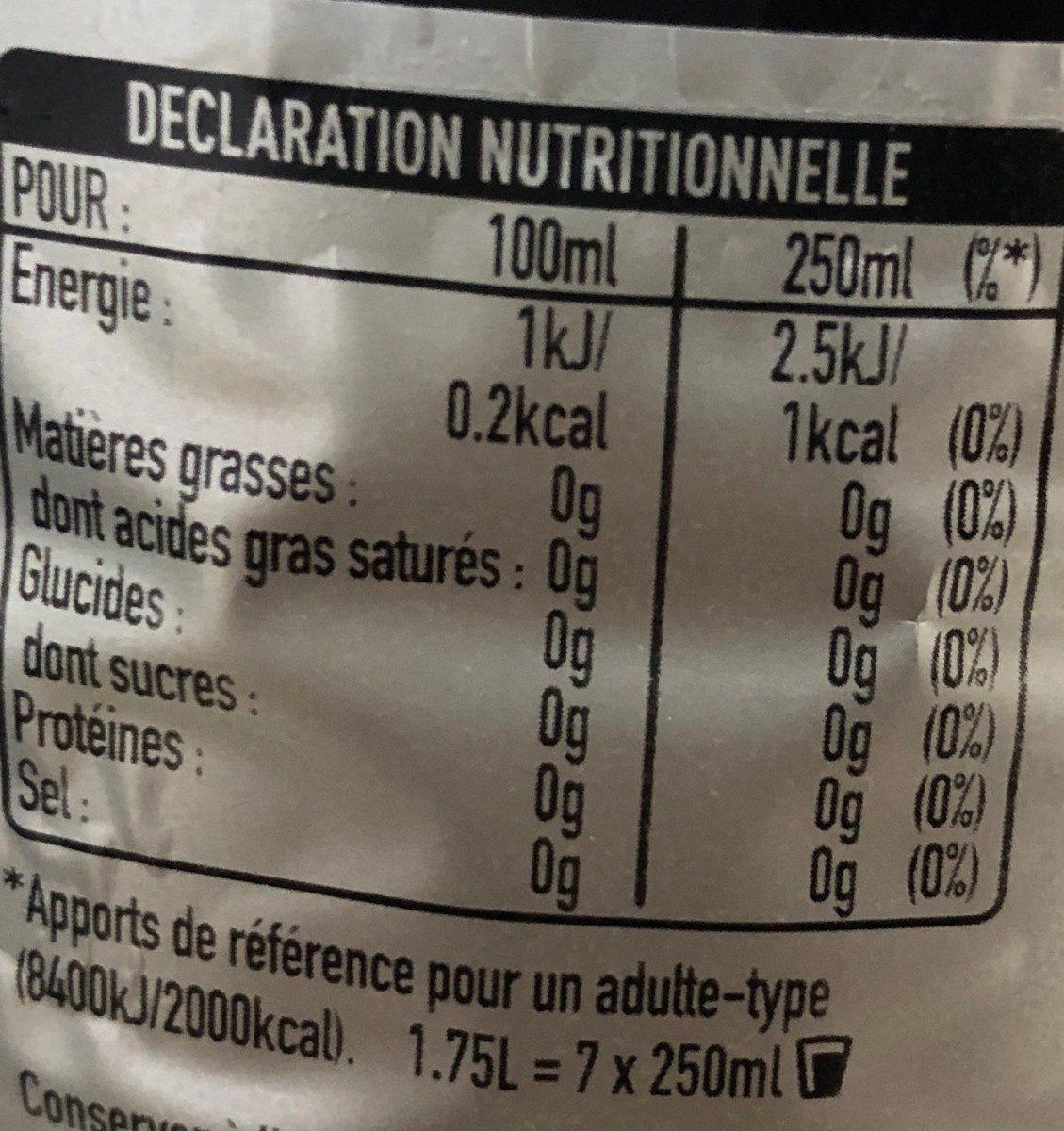 Coca light taste - Valori nutrizionali - fr