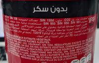 Coca Zéro - Ingredientes - fr