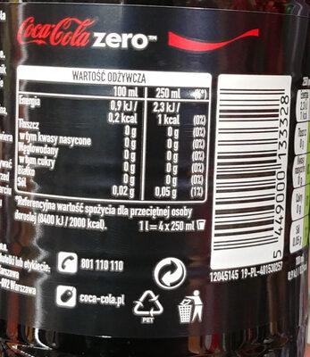 Coca Zéro - Wartości odżywcze - pl