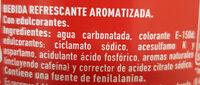 Coca-Cola Zero - Ingredientes