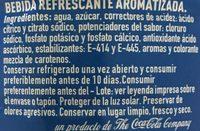Aquarius Naranja - Ingredients