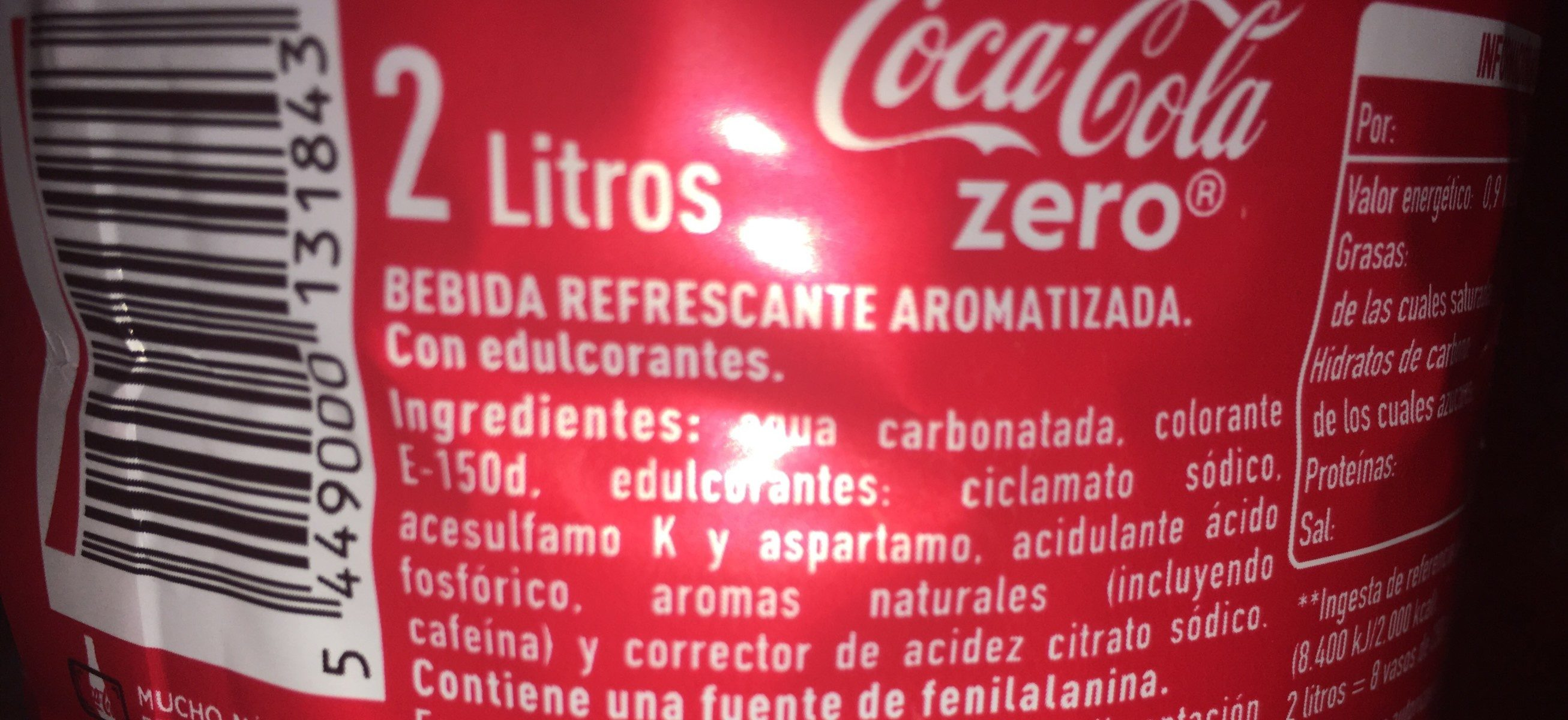 Coca Cola Zero - Ingrediënten