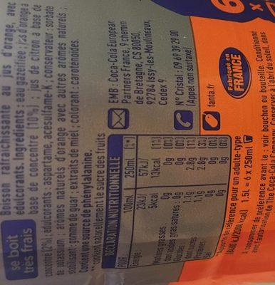 Fanta zéro Orange - Ingrédients - fr