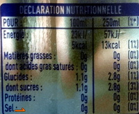 Fanta zéro Orange - Informations nutritionnelles