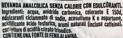Coca-Cola Zero - Ingredienti - it