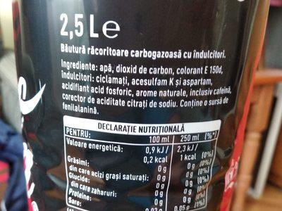 Coca Cola Zero - Ingredienti - en