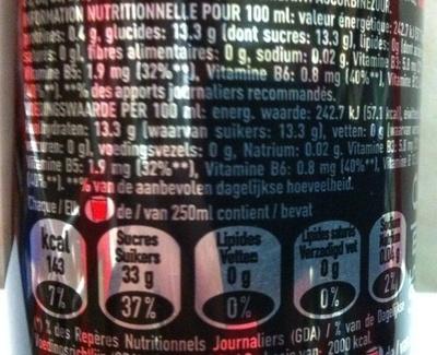 Burn Intense Energy - Informations nutritionnelles