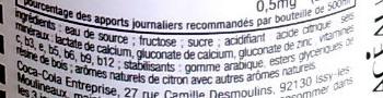 VitaminWater - Ingrédients