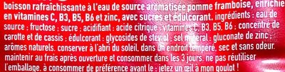 D-Fence Pomme - Framboise - Ingredients