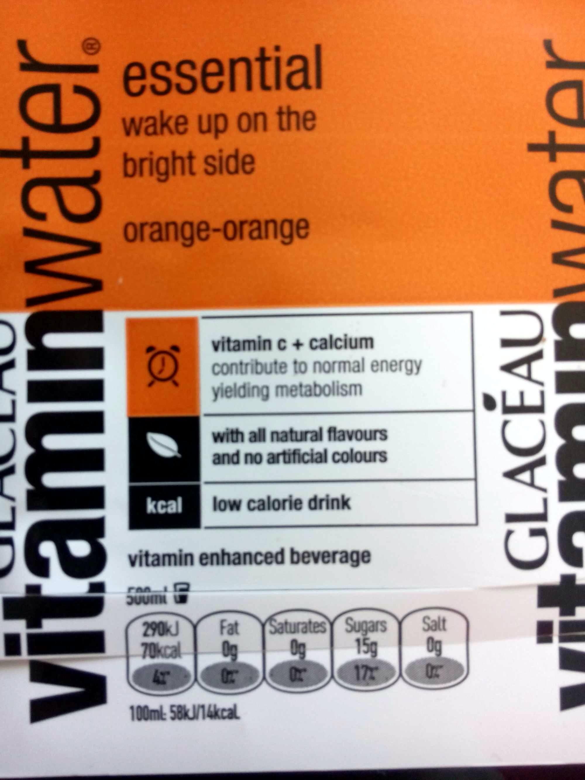 vitamin water essential orange-orange - 500 ml