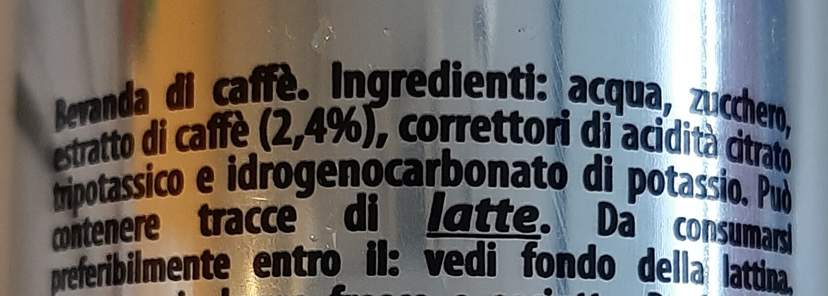 Coffee drink - Ingredients - it