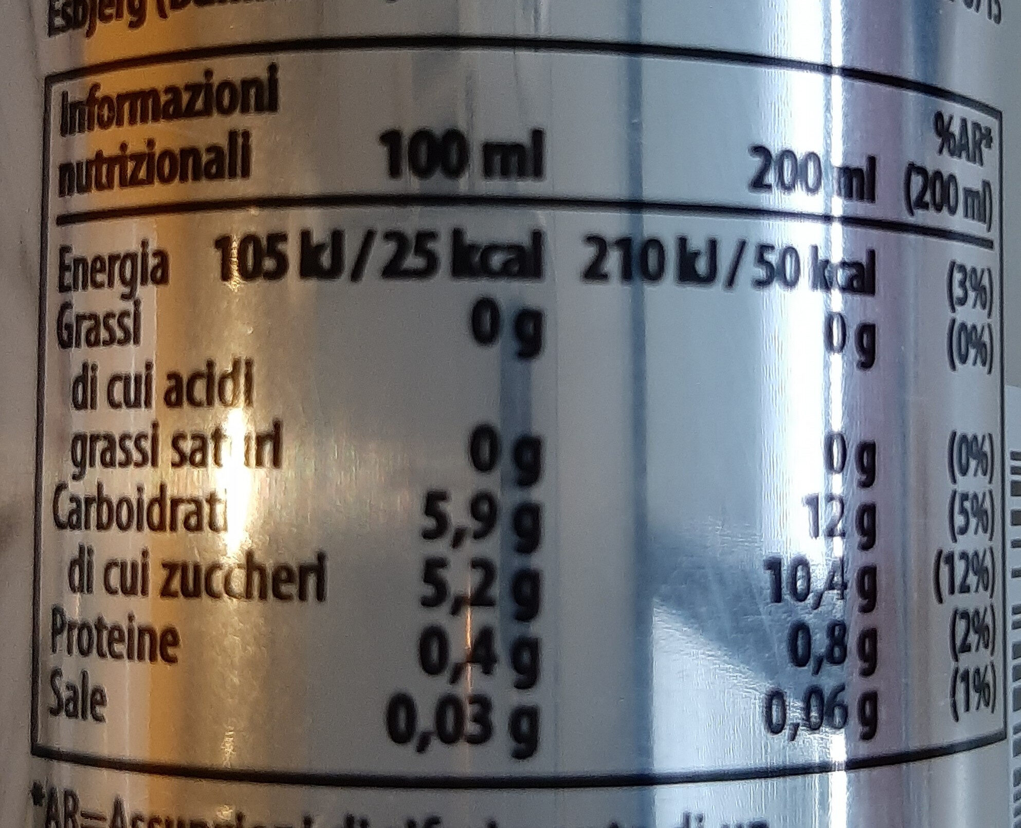Coffee drink - Nutrition facts - it