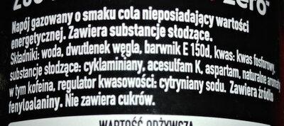 Napój gazowany o smaku cola - Ingredients
