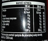 Napój gazowany o smaku cola - Nutrition facts - pl