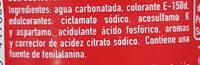 Cocacola Zero Sin Cafeina - Ingredientes