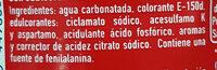 Coca-Cola Zero azúcar Zero cafeína - Ingredienti - es
