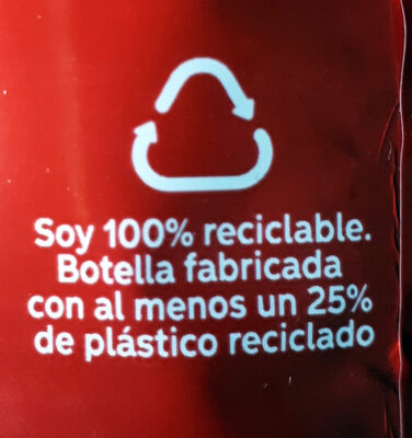 Coca-Cola Zero azúcar Zero cafeína - Istruzioni per il riciclaggio e/o informazioni sull'imballaggio - es