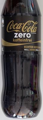 Coca-Cola zero koffeinfrei - Produit - de