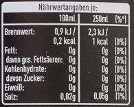 Coca-Cola zero koffeinfrei - Informations nutritionnelles - de