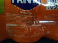 Fanta Naranja 9 latas 330 ml - Información nutricional - es