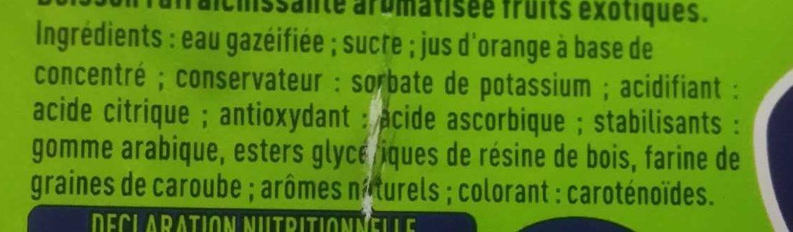 Fanta - Ingredienti - fr
