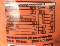 Fuze Tea Peach - Voedingswaarden - fr