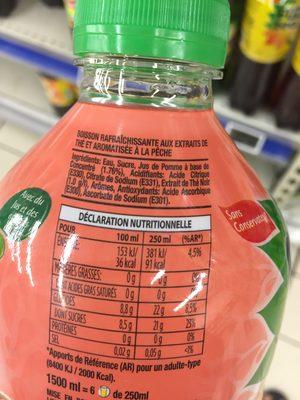 Fuze Tea Ready To Drink Peach - Ingredientes - fr