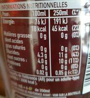 Fuze Tea Ready To Drink Peach - Informação nutricional - fr