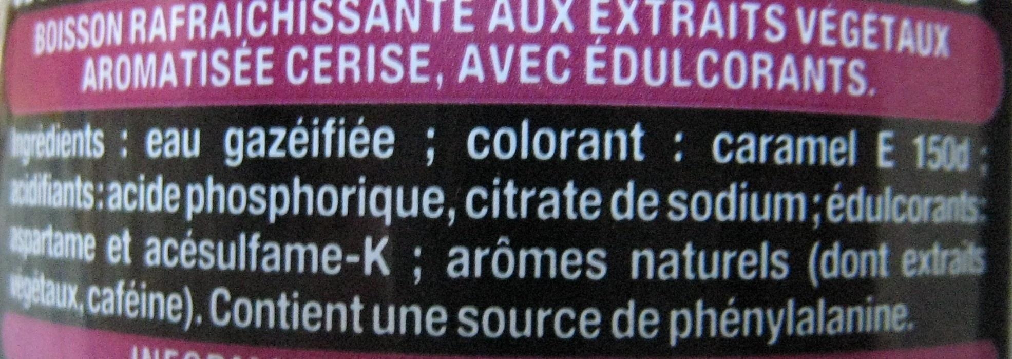 Coca-Cola Zero Cherry - Ingredientes - fr