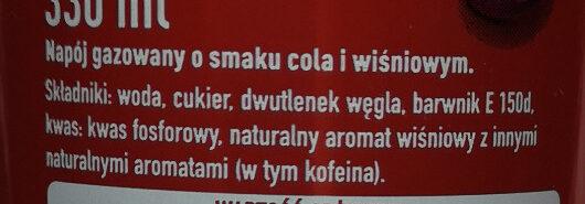 Coca-Cola Zero Cherry - Składniki - pl