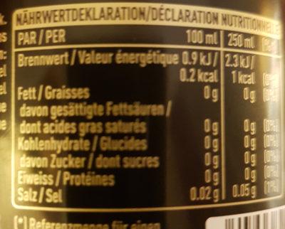 Coca - Cola Zero Koffeinfrei - Nutrition facts - fr