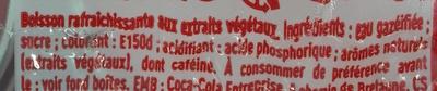Coca-Cola - Ingrédients - fr