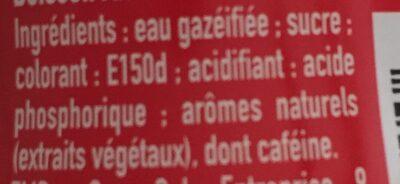 Coca Cola - Ingredienti - fr