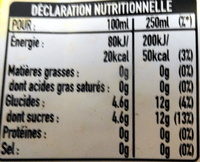Pamplemousse & orange sanguine - Informations nutritionnelles - fr