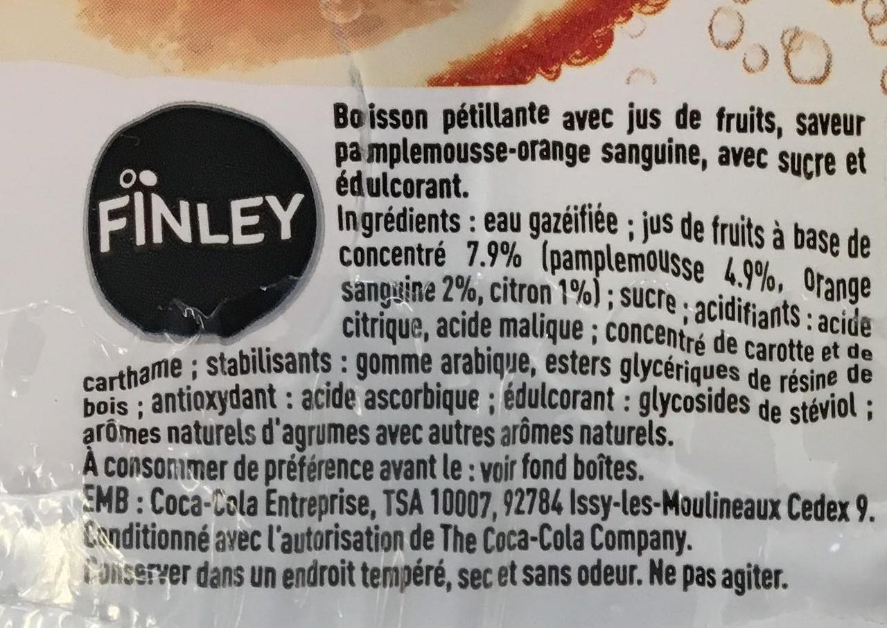 Pamplemousse & Orange sanguine - Ingrédients