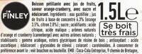 Boisson Orange saveur cranberry - Ingredients - fr