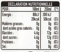 Orange & saveur cranberry - Nutrition facts - fr