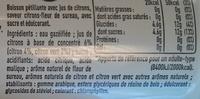 Finley Citron & Fleur de sureau - Ingrédients