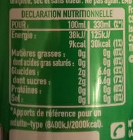 Sprite nouvelle recette - Información nutricional - fr