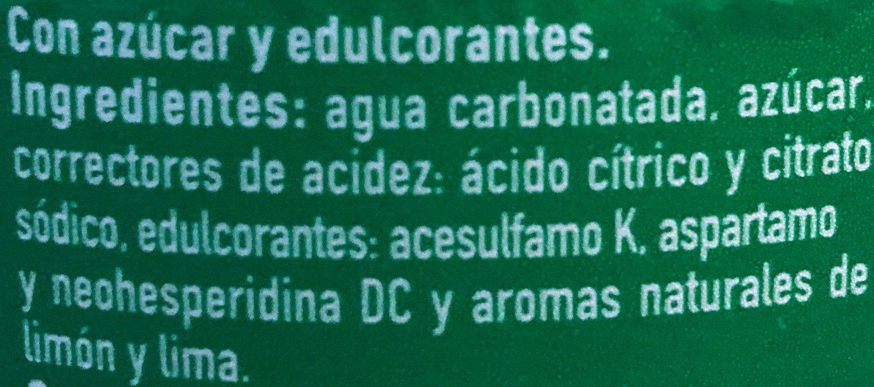 Sprite Refresco De Lima Limón - Ingrédients