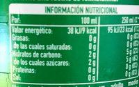 Sprite Refresco De Lima Limón - Informations nutritionnelles